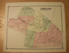 1875 Map of Ashland MA from Beers' Atlas of Middlesex County - original page 140