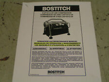 Bostitch #Cap1512-Of Owner'S Manual-Spanish & French