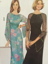 Burda Sewing Pattern 6892 Misses Vintage Evening Dress Size 8-18 New