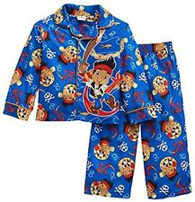 JAKE and the Neverland Pirates Size 2T Flannel Coat Style Pajama Set