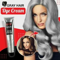 Gray Color Hair Cream Natural Permanent Dye 100 ml Silver Coverage Modeling New