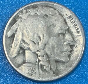 """1925 United States 5 Cents """"Buffalo Nickel"""" Coin"""