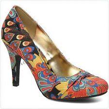 Women's Textile Heels in Floral Pattern