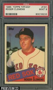 1985 Topps Tiffany #181 Roger Clemens Boston Red Sox RC Rookie PSA 9 MINT