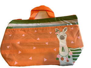 New Thirty One 31 Thermal Tote Green Cabana Stripe Llama Orange Lunch Bag Travel