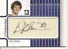 DARRYL SITTLER - 2013-14 ITG large swatch of game-used jersey / AUTOTHREAD /10
