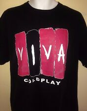 COLDPLAY VIVA  LA VIDA TOUR 2008  LARGE T-SHIRT ROCK CHRIS MARTIN OUT OF PRINT