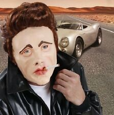 50's Movie Star James Dean Fancy Dress Foam Latex Face Mask + Hair