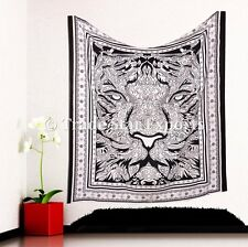 Indian Tiger Tapestry Bohemian Cotton Bedspread Throw Psychedelic Wall Hanging