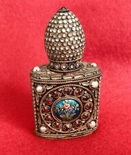 Antique Early 19th C. FRENCH Filigree CONTAINER OLD PARIS PERFUME BOTTLE INSERT