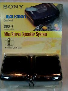 NOS Vintage 1990's Sony Mini Stereo Speaker System for Walkman  SRS-7