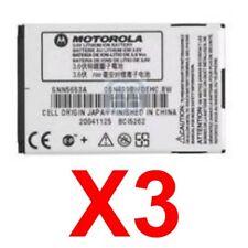 Lot Of 3 Oem Motorola Snn5653 Snn5653A Battery For V266 V276 V300 V400 V500