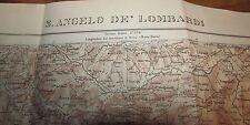 sant'angelo dei lombardi avellino mappa militare WWII 1925