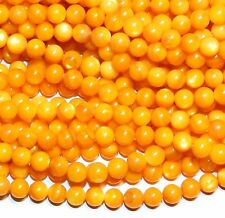 """MPX1518L 10-Strands Golden Yellow Mother of Pearl 6mm Round Shell Beads 16"""""""
