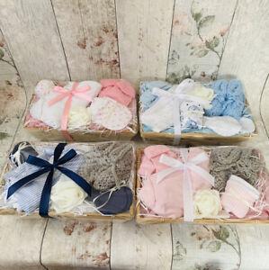 Pink Or Blue New Baby Mini Hamper Boy Girl Baby Shower Mum Gift Small Basket