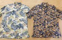 Tori Richards Shirt Mens Large Lot 100% Cotton Lawn Hawaiian Tropical