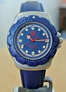 Tag Heuer Formula 1 200m SS, blue dial, blue rotating bezel diver watch