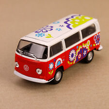 1972 T2 VOLKSWAGEN VW Hippy Van Microbus Kombi Combi Peace Love Yellow Die-cast