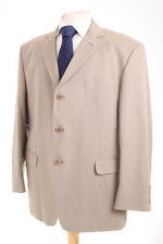M&S COLLEZIONE BEIGE COTTON MEN'S TRAVEL OR HOLIDAY SUIT 44S DRY-CLEANED