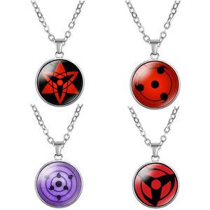 Anime Naruto Sharingan Itachi Eye Necklace Jewelry Chain Pendants Custom FGJ