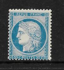 FRANCE 1870 20 C Bleu Pâle Siège de Paris superbe VF neuf sans charnière SG 137