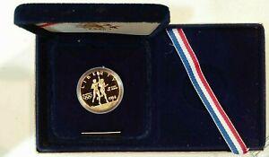 Olympic Proof 1984-S $10 Gold  Commemorative Box & COA