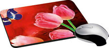 Butterfly Lilly Mouse Pad Soft Rubber Keyboard Large Computer Gaming Mouse Mat