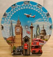 Churchill Biscuit metal tin Sights of London Eye Ferriswheel box candy container