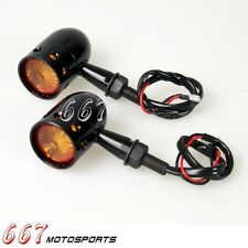 Motorcycle LED Drilled Turn Signal Lights For Harley Sportster Chopper Bobber