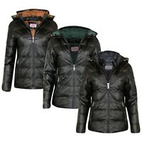 New Womens Ladies BLACK Quilted Winter Designer Coat Puffer Hooded Jacket Parka