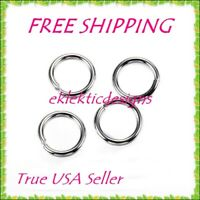 12mm 10pcs 1.2mm 16ga 304 Surgical Stainless Steel Open Jump Rings FREE SHIPPING