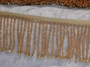 Bead Fringe Trim Gold x 1m