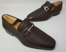 Salvatore Ferragamo Metrone Bit Loafer Men's Brown Leather Shoes Size 7 EE 2E