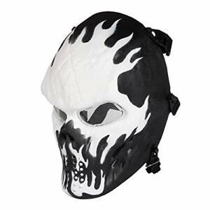 RinlingAirsoftMask,Paintball Mask SkullFullFace (Wildfire Clear Lens)