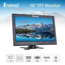 "10"" Inch TFT LCD Monitor BNC, AV, VGA, HDMI Video Input 16:9 1024*600 for PC DVD"