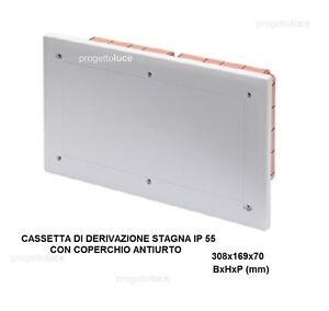 CASSETTA SCATOLA DERIVAZIONE INCASSO STAGNA IP55 308X169X70 GW48672 GEWISS