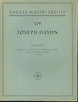 Joseph Haydn : Quartett für Flöte, Violine, Viola und bezifferten Bass OP. 5