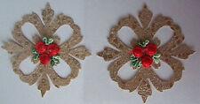 2 délicatement conçu broderie or baroque motifs autocollantes