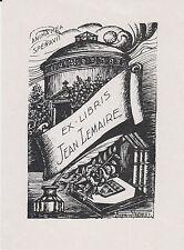 § EX-LIBRIS JEAN LEMAIRE DESSINÉ PAR RAYMOND PRÉVOST (1891-1974) §