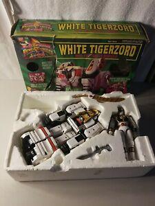 WHITE TIGERZORD with White Ranger 2271 1994 Power Rangers Figures Bandai Vintage