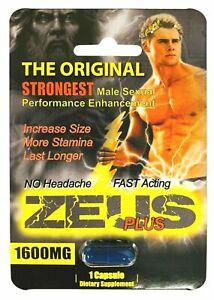 Zeus 1600mg Strongest Male Sexual Performance Enhancement Pill, Original Pill