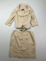 COAST SILK Skirt Suit - Size UK18 - Polka Dot - Great Condition - Women's