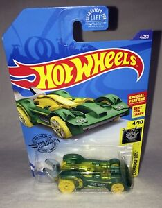 Hot Wheels EXPERIMOTORS TOOLIGAN 2019 - special feature - wrench - green