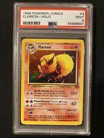 1999 Pokemon Jungle Flareon Holo Rare Mint Card PSA 9 Fresh Cert