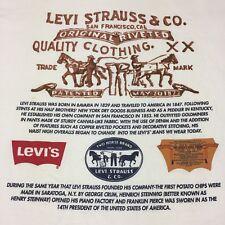 Vintage Levi Strauss & Co. XL T-Shirt Jeans Denim Cowboy Rodeo Overalls Farmer
