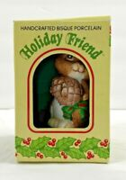 Vintage Squirrel Christmas Ornament Hand Painted Holiday Friend Bell New in Box