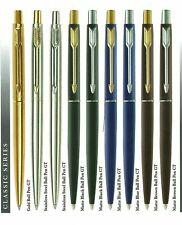 Parker Classic Steel Matte Black Navy Blue Brown CT GT Chrome Gold Trim Ball Pen