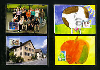 Liechtenstein Stamps Superb Maxicard Collection of 130 Different Color Postcards