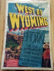 West of Wyoming 1950 Vintage 1-Sheet Poster 27x41 Johnny Mack Brown Western