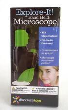 Explore It! Hand Held Microscope DISCOVERY TOYS #3078 LED Illumination ~NEW